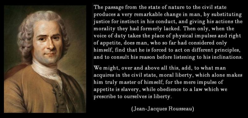 JEAN JACQUES ROUSSEAU LIFTED THE LID ON THE BOURGEOISIE AND CHALLENGED THE STATUS QUO PONDERING CAN WE BE BORN EQUAL?