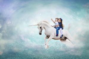 riding unicorns